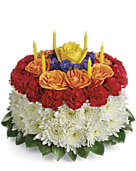 Your Wish Is Granted Birthday Cake Bouquet Flower Arrangement