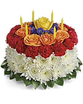 Quick View Your Wish Is Granted Birthday Cake Bouquet Flower Arrangement