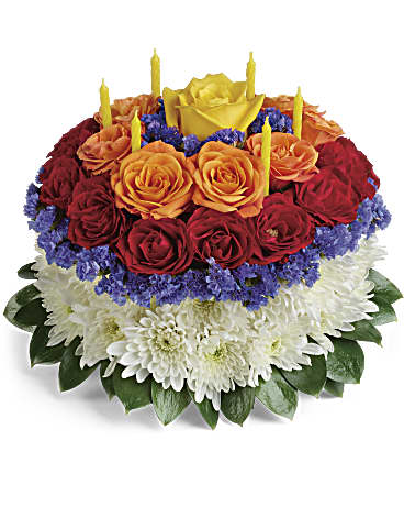 Your Wish Is Granted Birthday Cake Bouquet Teleflora