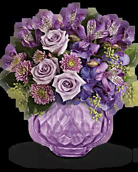 Bouquet Lavande luxuriante avec roses de Teleflora