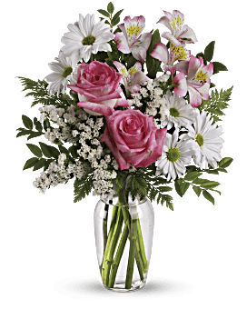 Bouquet Quel plaisir avec des roses