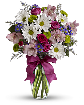 Sending flowers to your wife or girlfriend teleflora quick view pretty please bouquet mightylinksfo