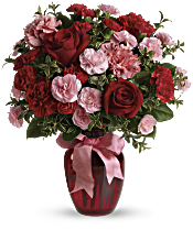 Dance with Me Bouquet with Red Roses Flowers