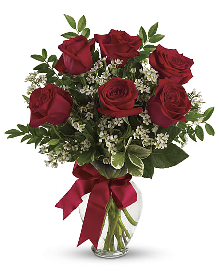 Bouquet With Red Roses Flowers