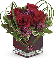 Sweet Thoughts Bouquet with Red Roses Flowers