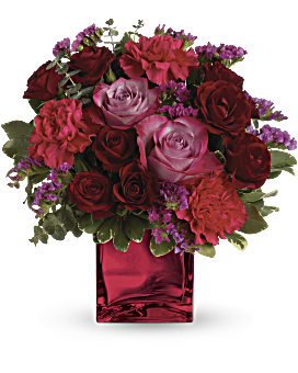 Teleflora's Ruby Rapture Bouquet Flower Arrangement