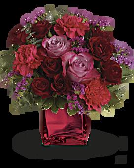 Quick View Teleflora S Ruby Rapture Bouquet Flower Arrangement