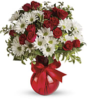 Red White And You Bouquet  Flowers