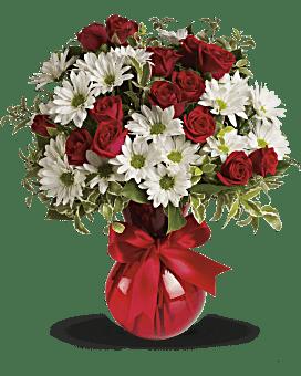 Bouquet Rouge, blanc et toi par Teleflora