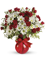 Red White And You Bouquet by Teleflora