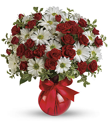 Red White And You Bouquet by Teleflora Flowers