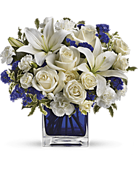 Shop for flowers by their favorite color teleflora telefloras sapphire skies bouquet bouquet mightylinksfo