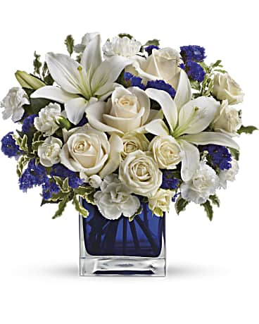 Image Of Telefloras Sapphire Skies Bouquet With SkuTEV25 3A