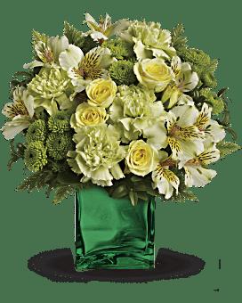 Teleflora's Emerald Elegance Bouquet Flower Arrangement