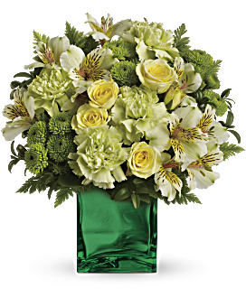 Shop for flowers by their favorite color teleflora telefloras emerald elegance bouquet flower arrangement mightylinksfo