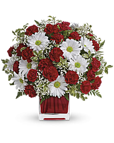 Red and white delight by teleflora bouquet teleflora red and white delight by teleflora bouquet mightylinksfo