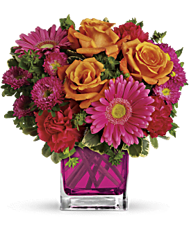 Orange roses bouquets teleflora quick view telefloras turn up the pink bouquet bouquet mightylinksfo