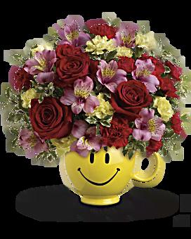 Bouquet Très heureux que tu sois à moi par Teleflora