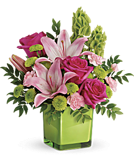 Shop for flowers by their favorite color teleflora telefloras in love with lime bouquet bouquet mightylinksfo