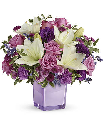 Teleflora's Pleasing Purple Bouquet Flowers