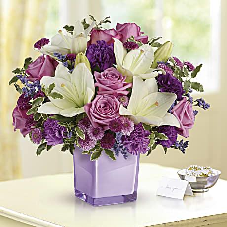 Teleflora S Pleasing Purple Bouquet Teleflora