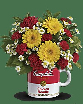 Bouquet Vœux de santé Campbell'sMD de Teleflora