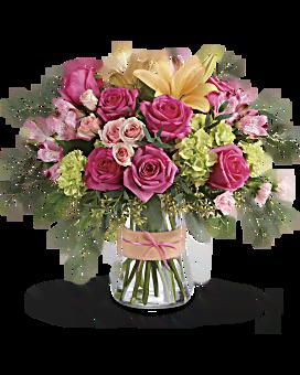 blush life bouquet teleflora. Black Bedroom Furniture Sets. Home Design Ideas