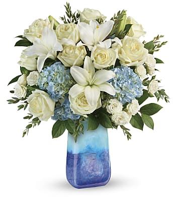 Teleflora's Ocean Sparkle Bouquet Flowers