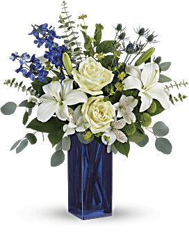Teleflora's Calming Cobalt Bouquet Bouquet