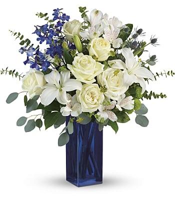 Teleflora's Calming Cobalt Bouquet Flowers