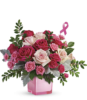 Teleflora's Pink Power Bouquet Flowers