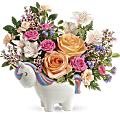 Teleflora's Magical Garden Unicorn Bouquet Flowers