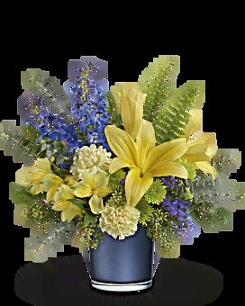 Lever de soleil bouquet de saphir de de Teleflora