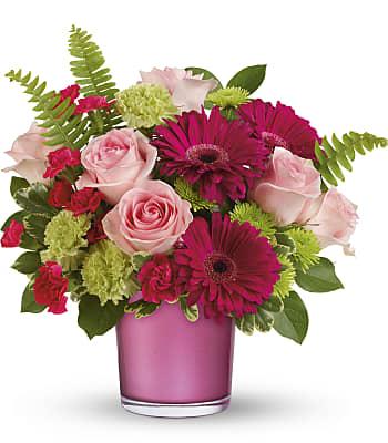 Regal Pink Ruby Bouquet Flowers
