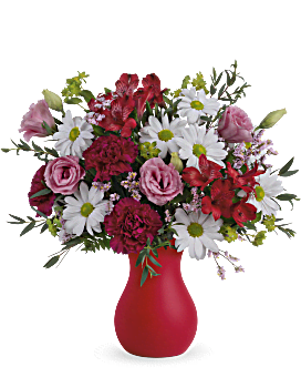 Teleflora's Kissed With Crimson Bouquet Bouquet
