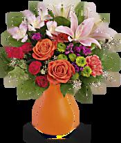 Teleflora's Happy Go Citrus Bouquet Flowers