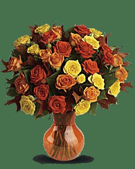 Teleflora's Fabulous Fall Roses Bouquet