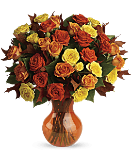 Bouquet Roses d'automne mythiques de Teleflora