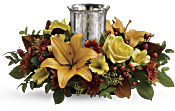 Glowing Gathering Centrepiece by Teleflora Flowers