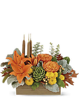 Teleflora's Fall Bamboo Garden Flower Arrangement