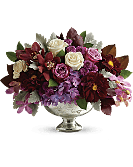 Quick View Teleflora S Beautiful Harvest Centerpiece Flower Arrangement