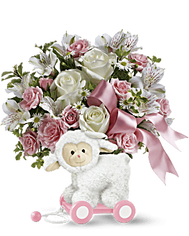 Teleflora's Sweet Little Lamb - Baby Pink Bouquet