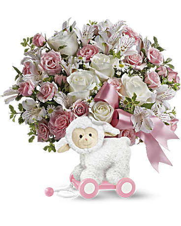 Shop the Sweey Little Lamb arrangement in pink