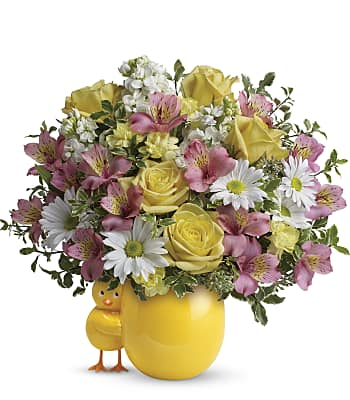 Sweet Peep Bouquet - Baby Pink Flowers