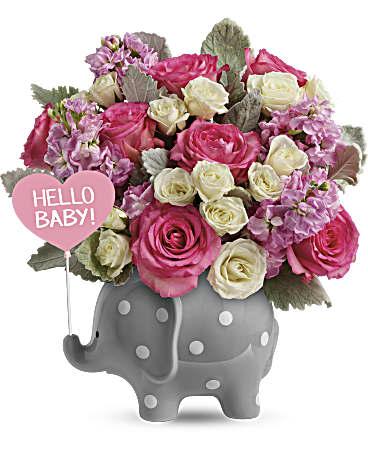 teleflora s hello sweet baby pink bouquet teleflora