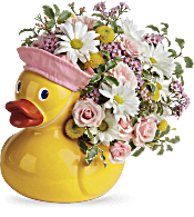 Telelfora's Sweet Little Ducky Bouquet Flowers