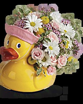 Telelfora's Sweet Little Ducky Bouquet Bouquet