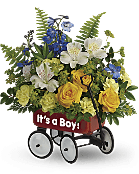 Teleflora's Sweet Little Wagon Bouquet Bouquet