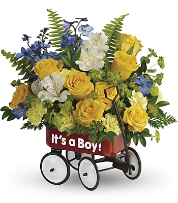 Teleflora's Sweet Little Wagon Bouquet Flowers
