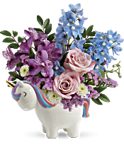 Teleflora's Enchanting Pastels Unicorn Bouquet Flowers